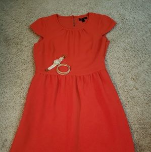Red jcrew dressy dress